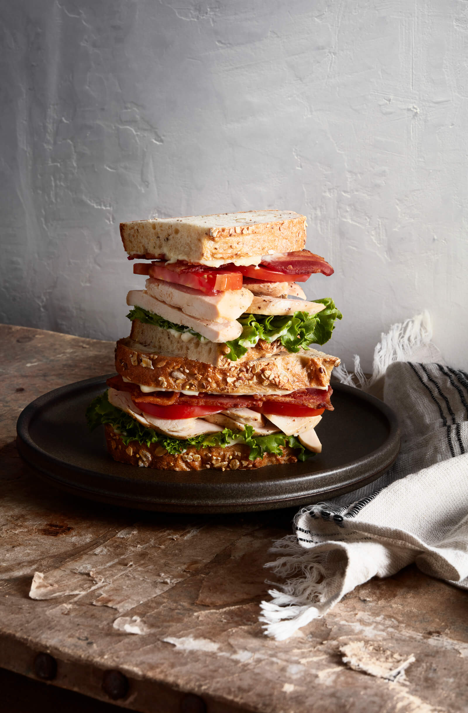 Sandwich |  Stack | lunch | plate | layered