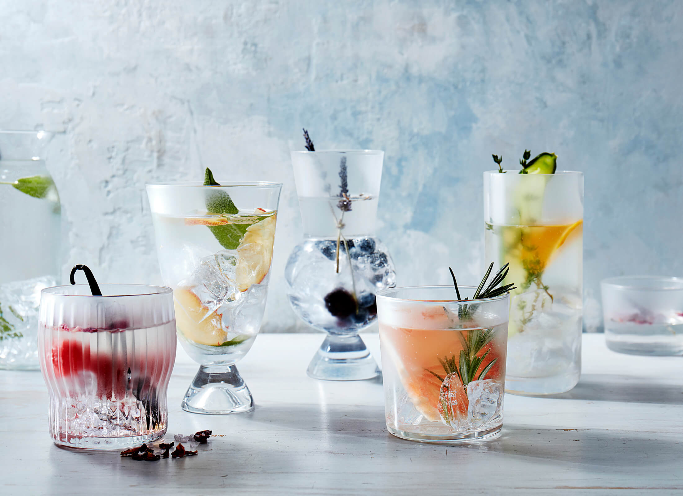 fruit | infused | water | cups | glass