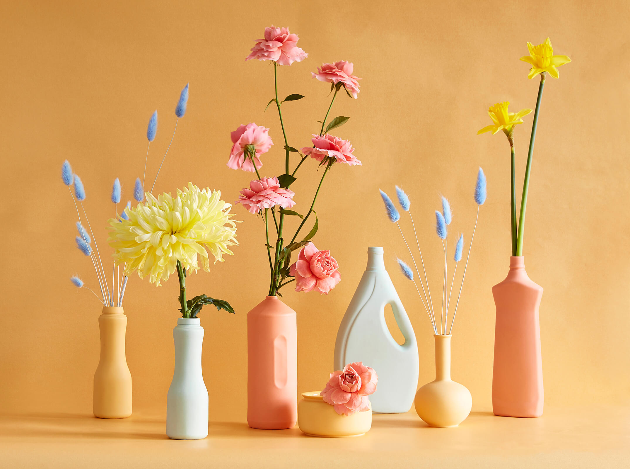 flower | colorful | color | spring | painted | vases
